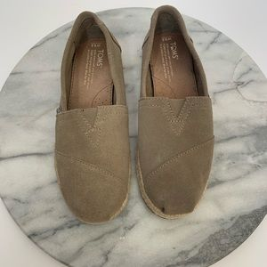 TOMS Classic leather suede slip-on shoes